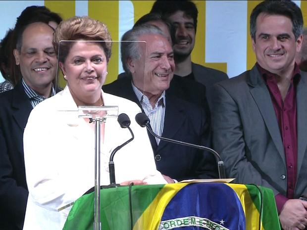 Dilma discursa apos vencer eleições