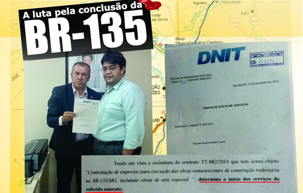 DNIT BR 135 paulo guedes montalvania monte rei